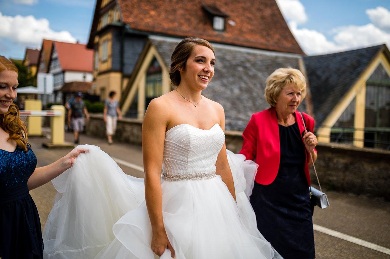 Braut Hochzeit Schloss Langenburg Hochzeitsfotograf