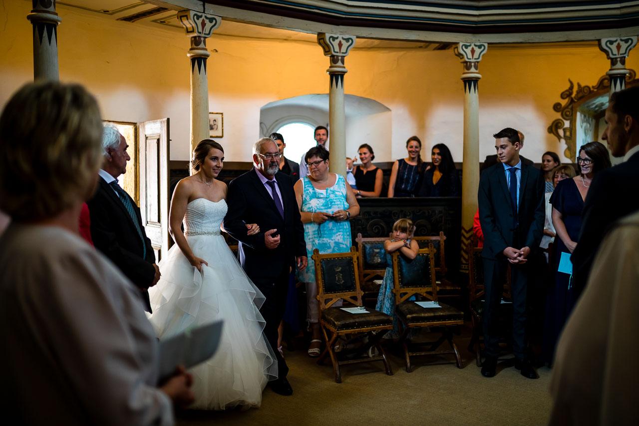 Brautpaar Kapelle Schloss Langenburg Hochzeitsfotograf