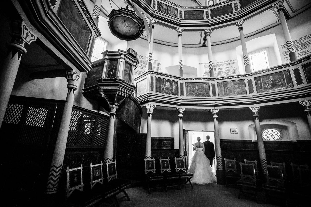 Brautpaar Porträt Kapelle Schloss Langenburg Hochzeitsfotograf