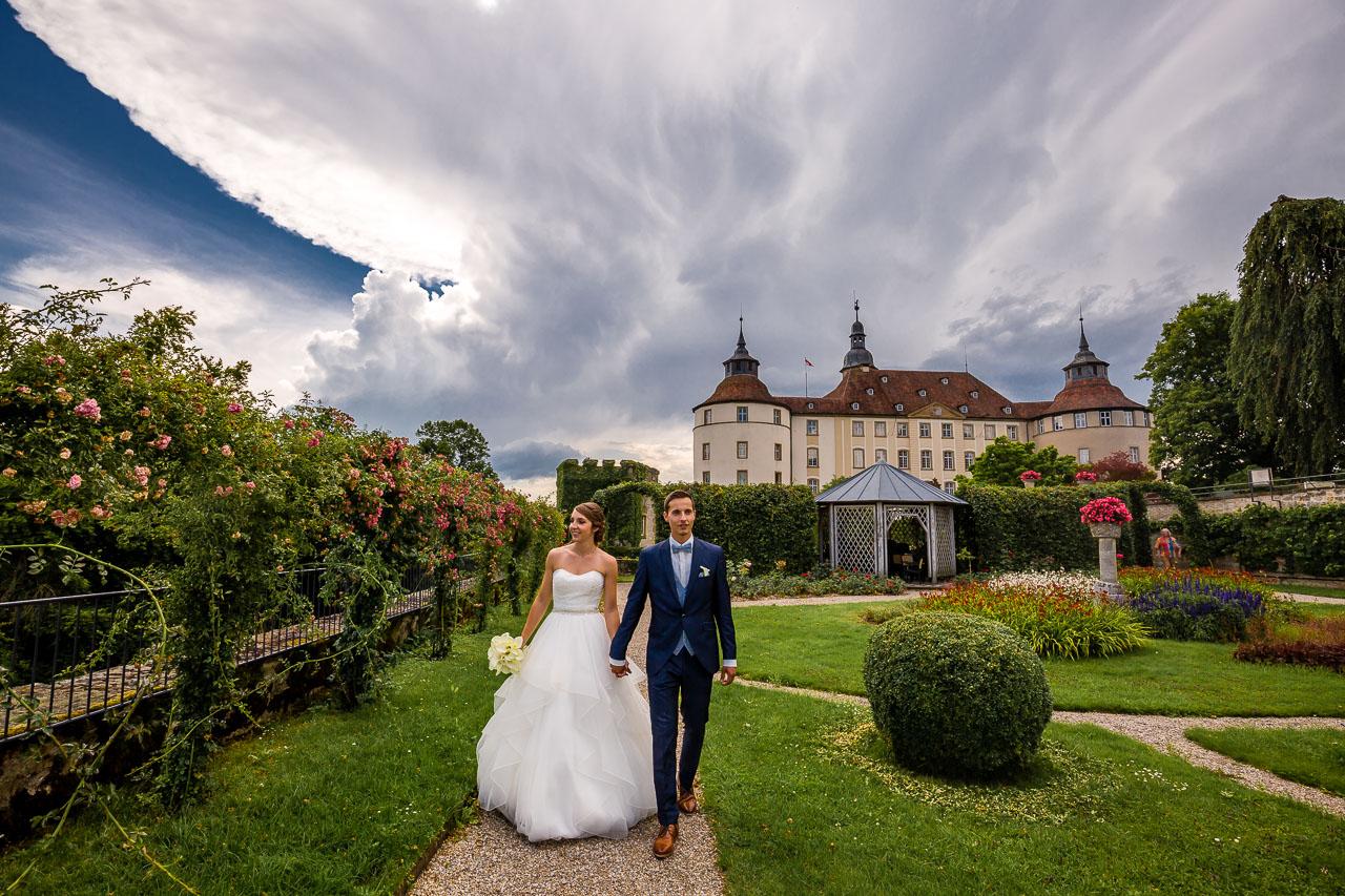 Brautpaar Porträt Schloss Langenburg Hochzeitsfotograf
